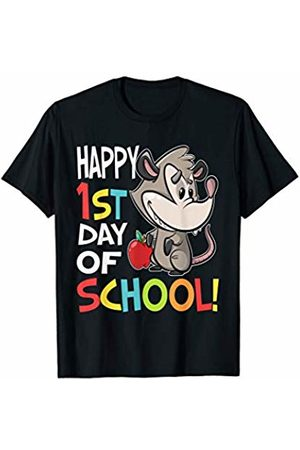 OKAI Tees First Day of School Shirts Happy 1st Day of School Shirt Back to School Opossum T-Shirt