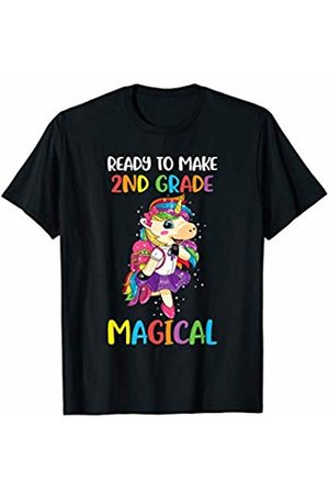 Unicorn Back To School CG Second Grade Unicorn Back to School Shirt Girls Gift T-Shirt