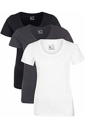 Berydale Für Sport & Freizeit, Rundhalsausschnitt T-Shirt, Schwarz/Weiß/Forged Iron), X-Large