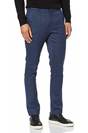 New Look Men's Grid Check Trousers