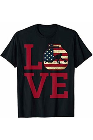 U.S.A Winter Sports Games Tees & Gifts USA Flag Patriotic Curling Stone Love Winter Sport Game Gift T-Shirt