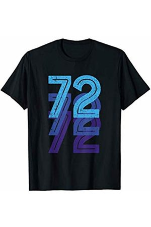 Lucky Birthday Plus Sports Numbers Co. 72nd Birthday Lucky Number 72 Sports Team Birth Age Year T-Shirt