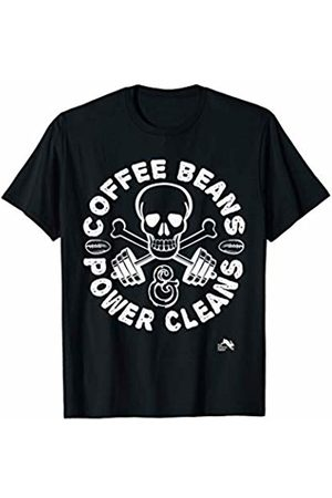 Workout & Coffee T-shirt Co Coffee Beans & Power Cleans Gym Lifting T-Shirt