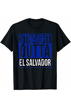 Straight Outta El Salvador T-Shirt Supply T-shirts - Straight Outta El Salvador Cool El Salvadorian Flag Design T-Shirt
