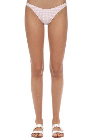 Solid Eloise Gingham Bikini Bottoms