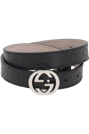 Gucci Embossed Interlocking G Leather Belt
