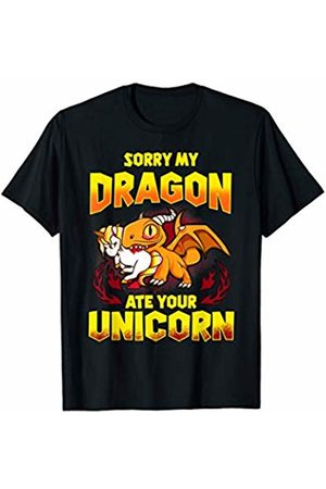 Tee Styley Sorry My Dragon Ate Your Unicorn Funny Quotes Humor Gift T-Shirt