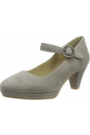 Stockerpoint Women's Schuh 6006 Ankle Strap Heels, Taupe