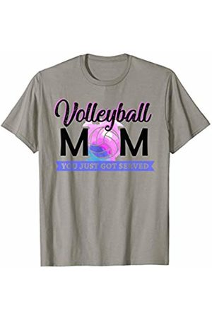 Hadley Designs Women T-shirts - Volleyball Mom You Just Got Served for Women Mothers Day T-Shirt