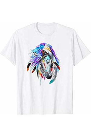 Horse Boho Fashion Shop Lovely Horse Hippy Feather Headband Boho Style T-Shirt