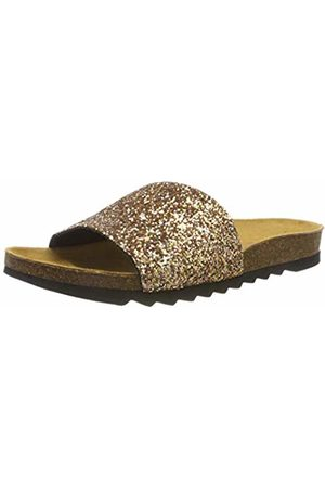 THE WHITE BRAND Women's Bio Glitter Open Toe Sandals