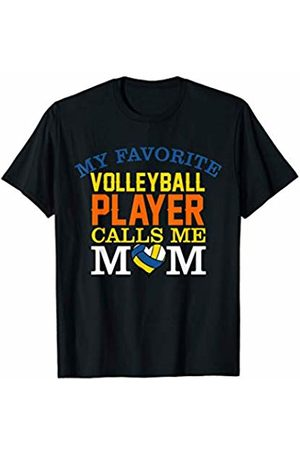 Hadley Designs My Favorite Volleyball Player Calls Me Mom funny gift mum T-Shirt