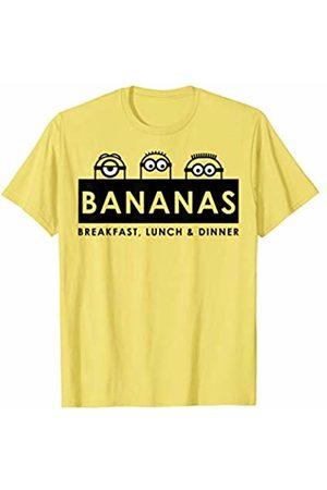 Minions Bananas Breakfast Lunch & Dinner Banner T-Shirt