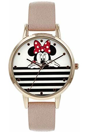 Disney Minnie Mouse Unisex Adult Analogue Classic Quartz Watch with Leather Strap MN5102