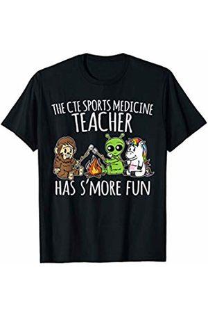 Teacher Besties Camping by Crush Retro CTE Sports Medicine Teacher Has S'more Fun Team Gifts T-Shirt