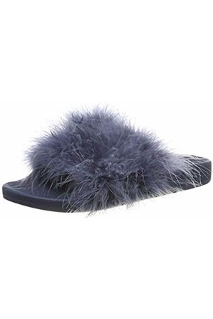 THE WHITE BRAND Women's Feather Open Toe Sandals, Navy