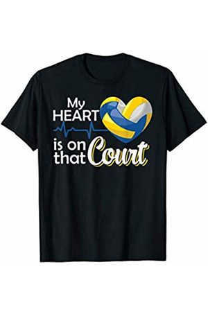 Hadley Designs My Heart Is On That Court! Mom Volleyball for women Coach T-Shirt