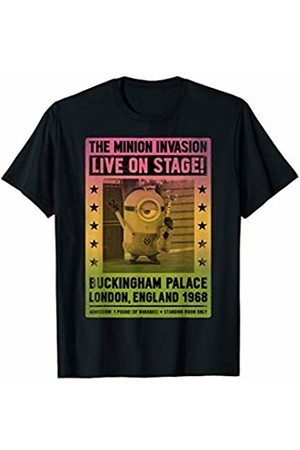 Minions Men T-shirts - Minion Invasion Live On Stage Gradient Poster T-Shirt