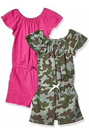 Spotted Zebra 2-pack Knit Ruffle Top Rompers Playwear Dress, Medium (8) US