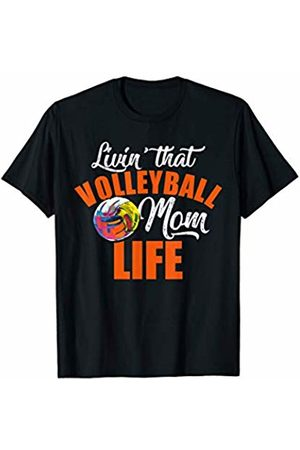 Hadley Designs Women T-shirts - Livin That Volleyball Mom Life for women mother Funny Mum T-Shirt