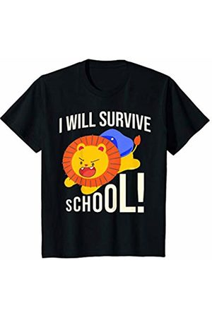 First Day of School Tiger Shirts Youth First Day of School Shirt Boys I will survive School Tiger T-Shirt