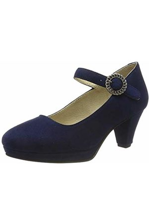 Stockerpoint Women's Schuh 6006 Ankle Strap Heels, Dunkelblau