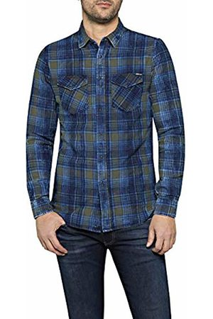 Replay Men's M4998 .000.52138 Casual Shirt, (Navy/ / 10)