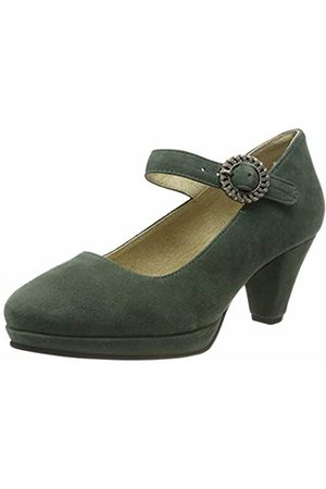 Stockerpoint Women's Schuh 6006 Ankle Strap Heels, Dunkelgrün
