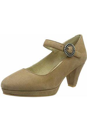 Stockerpoint Women's Schuh 6006 Ankle Strap Heels, Sand