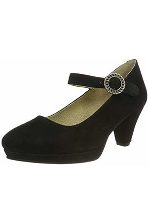 Stockerpoint Women's Schuh 6006 Ankle Strap Heels, Schwarz