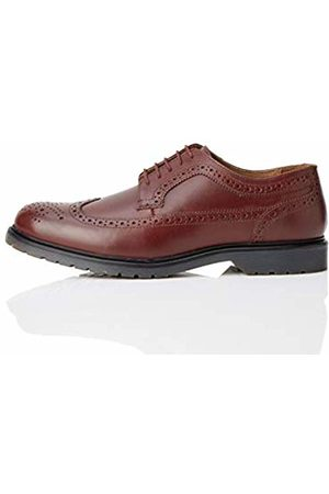 FIND Leather Brogues, Rot Burgundy)