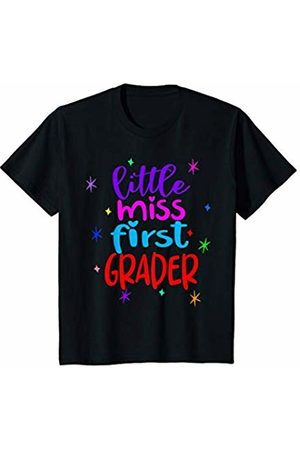 First Grade Clothing - By Tick Tock Youth Little Miss First Grader Shirt - Girls Cute Back to School T-Shirt