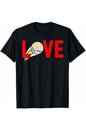 Hadley Designs Love mom volleyball funny gift for mum Mothers Birthday T-Shirt