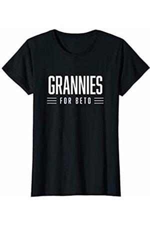 Beto for President 2020 Womens Grannies for Beto - White Letters T-Shirt