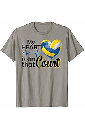 Hadley Designs My Heart Is On That Court Mom volleyball for women Mum Gift T-Shirt