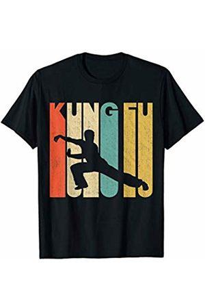 Classic Vintage Retro T-Shirts Vintage Retro Kung Fu Silhouette T-Shirt