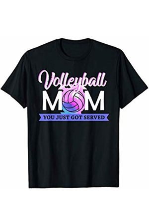 Hadley Designs Volleyball Mom You Just Got Served for Women Mum Funny T-Shirt