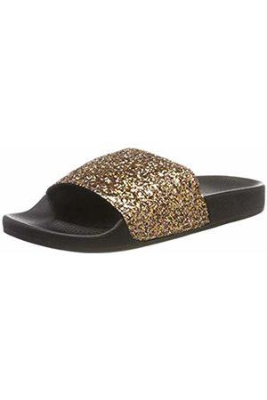 THE WHITE BRAND Women's Glitter Open Toe Sandals