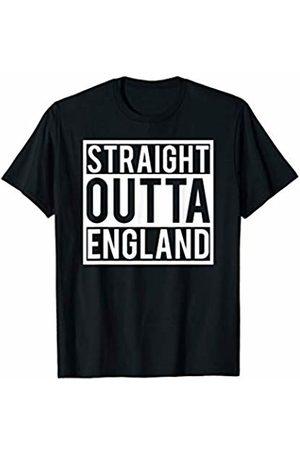 Union Jack British Flag Tees Straight Outta England Great Britain Union Jack Novelty Gift T-Shirt
