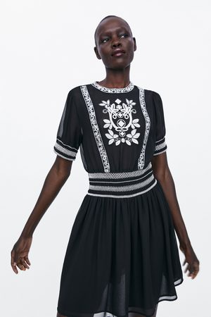 Zara Women Dresses - Dress with contrast embroidery