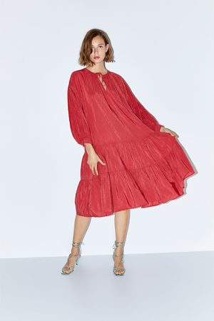 Zara Plumetis frilly dress
