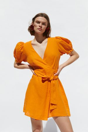 Zara Linen wrap dress