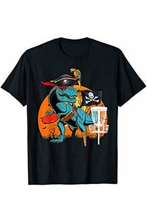 Dinosaur Halloween Sport Costumes Jolly Roger T-rex Dinosaur Pirate Disc Golf Halloween T-Shirt