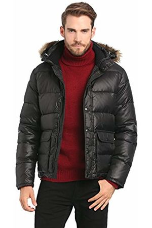 Esprit Men's 094EE2G028 Quilted Long Sleeve Coat