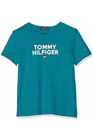 Tommy Hilfiger Baby Boys' Logo Tee S/s T-Shirt, (Saxony 491)