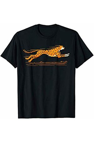 Cultures Cheetah Novelty Shirts And Gifts Running Cheetah Animal For Wild Cat Lovers JT T-Shirt