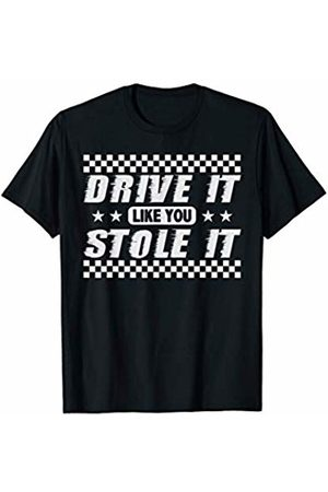 Cool Auto Cars V16 Engine Sound Summer Drive Tees Drive It Like You Stole It Shirt Humorous Fun Sports Car V8 T-Shirt