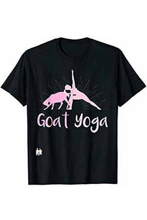 Goat Collection by Windy Ridge Shirts Goat Yoga (pink font) T-Shirt
