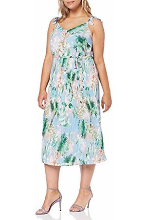 Dorothy Perkins Women's Pleated MIDI Dress Tropical with Built UP Straps Party ( 210)