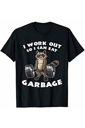 Funny Muscle Biceps Tee Shirt Gift Fitness T-Shirt I Work Out So I Can Eat Garbage | Funny Pun